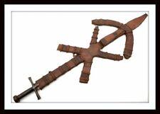"ANTIQUE RARE ISLAMIC ARABIC SUDANESE ""KASKARA"" SWORD WITH 5 DAGGER COMPARTMENTS."