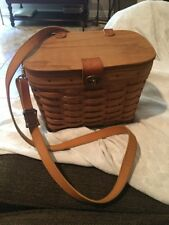 Longaberger Tall Purse Cross Body Basket With Liner