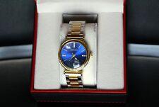 New Emporio di Milano Woman's Gold Blue Watch Silver Rhinestones Limited Edition
