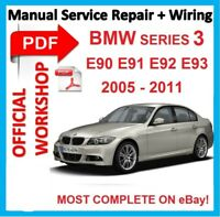 # OFF WORKSHOP MANUAL service repair FOR BMW series 3 E90 E91 E92 E93 2005-2011