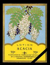 Vintage French Perfume Label: Acacia - Parfumerie Etoile
