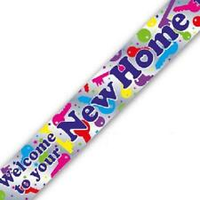 Welcome To Your New Home Party Banner 270cm long repeats 3 times