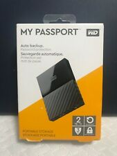 WD My Passport 2TB Black External Portable HDD Hard Drive USB 3.0 WDBS4B0020BBK