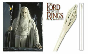 Staff of Gandalf White & STAFF OF SARUMAN BLACK FROM LOTR Both Together