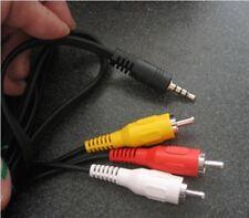 AV AUDIO VIDEO TV CABLE CORD LEAD FOR CREATIVE ZEN X-FI2 XFI2 X FI2 MP3 PLAYER