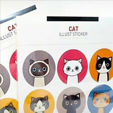 18pcs/lot Cat&Doll Paper Sticker Decoration Decal DIY  Kawaii Stationery Gift '`