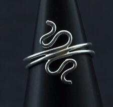 Bague de pied -bijoux d' orteil ethnika Deeba ajustable en metal blanc  W91 6523