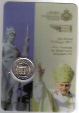 SAN MARINO 2011 2 € VISITA DEL PAPA