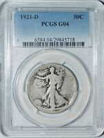 1921 D PCGS G4 Walking Liberty Half Dollar