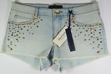NWT $118 Juice Couture Bleached Wash Denim Short Women's Sexy/Stylish! Sz 27