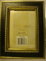 """Classique Collection Photo Frame Holds 3.5"""" X 5"""" Picture Black & Gold Trim   400"""