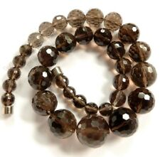 Semi Precious Stone Graduated Faceted Round Beads for Necklace
