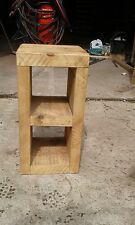 NEW SOLID WOOD RUSTIC CHUNKY 2 HOLE WOODEN CUBE BEDSIDE TABLE MADE TO MEASURE