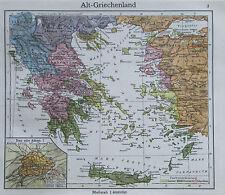Alt-Griechenland - alte Karte Landkarte aus 1922 - old map