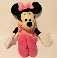 "Pink Polka Dot Dress,Bow,Pink Shoes BIG 24/"" Plush Disney//Just Play Minnie Mouse"