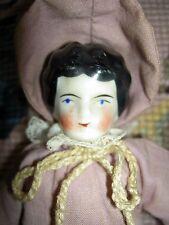 Darling German, antique dollhouse-size china doll, original sawdust stuffed body