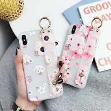 Frosted Flower Hot Fashion Bracket Women Girl Soft Case Cover For Various Phone