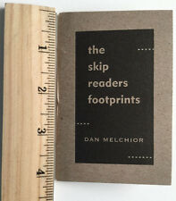 The Skip Readers Footprints by Dan Melchior SIGNED X-Ray Book Company Poetry ltd