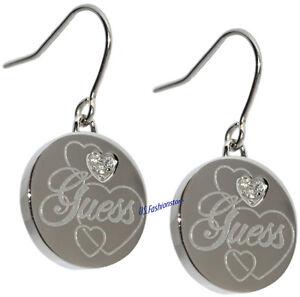 GUESS Schmuck Ohrringe Hängeohrringe Edelstahl Silber Strass Beauty USE11001
