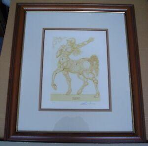 """SALVADOR DALI Divine Comedy - Inferno 25 """"The Centaur"""" - Signed - COA - Framed"""