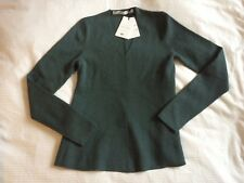 UNIQLO and LEMAIRE Sage Green Wool V Neck Jumper Top-S-UK8/10-BNWT-L@@K!