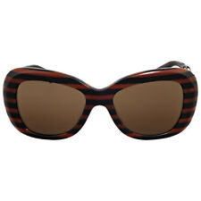 Versace Brown Rectangular Sunglasses