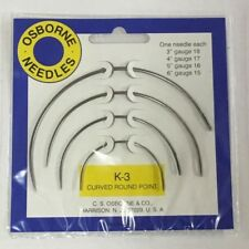 C.S. Osborne K-3 Curved Round Point Needles (Us177) Upholstery Supplies