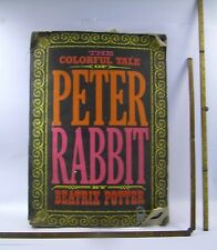 Colorful Tale Peter Rabbit 1968 Giant COLORING bk VINTAGE Posters FUN art RARE!