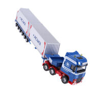 Vehicle Model Toy 1/50 Die-cast Car Transporter Container Truck Layout Blue