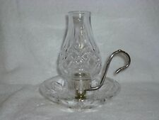 Waterford Crystal Lismore Silverplate Candlestick/Holder Chamberstick