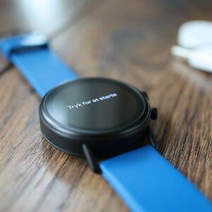 Skagen Falster 2 - Navy Silicone Strap - Wear OS Smartwatch Fitness Tracker