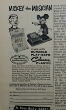 1956 Celanese honor roll toy plastic Mickey Mouse the musician vintage ad