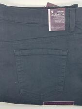 Gloria Vanderbilt Amanda Stretch Tapered Leg Jeans Grey Twilight Womens 16 Short