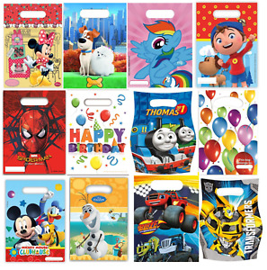 Birthday Party Various Disney Character Themed Loot Lunch Bags Gift 6 Or 8