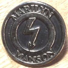MARILYN MANSON  BIG  Metal Pin Badge punk  rock n roll heavy hard thrash