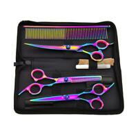 "7"" Professional Salon Hair Cutting Shears Barber Scissors Hairdressing Tool Set"