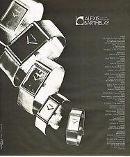PUBLICITE ADVERTISING 015  1975   ALEXIS BARTHELAY  styliste maitre horolger
