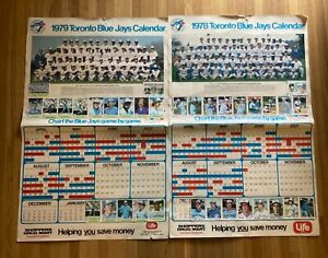 Vintage 1978 and 1979 Toronto Blue Jays Posters / Schedules