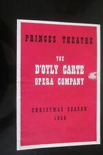 1956 D OYLY  CARTE OPERA COMPANY PRINCES THEATRE RUDDIGORE PROGRAMME