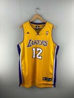 Adidas Mens Yellow LA Lakers Shannon Brown #12 Genuine Basketball Jersey Size L