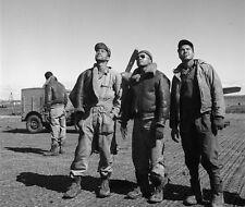 Tuskegee Airmen ground crew awaiting planes - New 8x10 World War II Photo