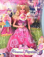 Barbie TORI in the Princess Popstar, Twist & Change Hair, She Sings 2 Songs! MIB