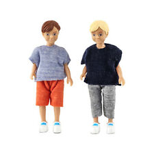 2 Puppen Kinder Jungen Puppenhaus Lundby