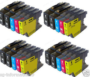 20 CARTUCCE PER BROTHER LC1240 LC1280 XL MFC J430W J825DW J835DW J5910DW