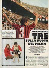 Ga2 Clipping-Ritaglio 1979 Aldo Maldera Un favoloso tre sulla ruota del Milan