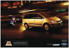 PUBLICITE ADVERTISING  2000    FORD  GALAXY    écrans vidéo intégrés (2 pages)