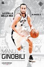 LIBRO BOOK N°13 MANU GINOBILI LE STELLE DELLA NBA AI RAGGI X SAN ANTONIO SPURS