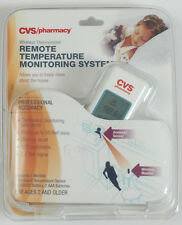 CVS WIRELESS THERMOMETER REMOTE TEMPERATURE MONITORING SYSTEM FEVER ALARM CHILD