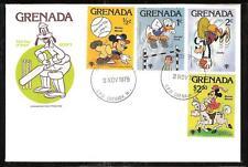 GRENADA # 950-9 DISNEY YEAR OF THE CHILD FDC's