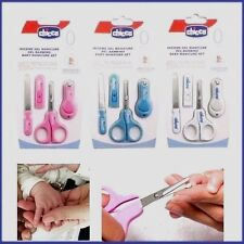 Baby Scissors  Nail Care Cutter Clipper Manicure Pedicure 4 PICES WHITE Set UK